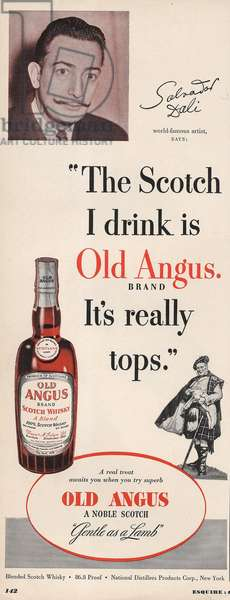 Old Angus Magazine, advert, USA, 1950s