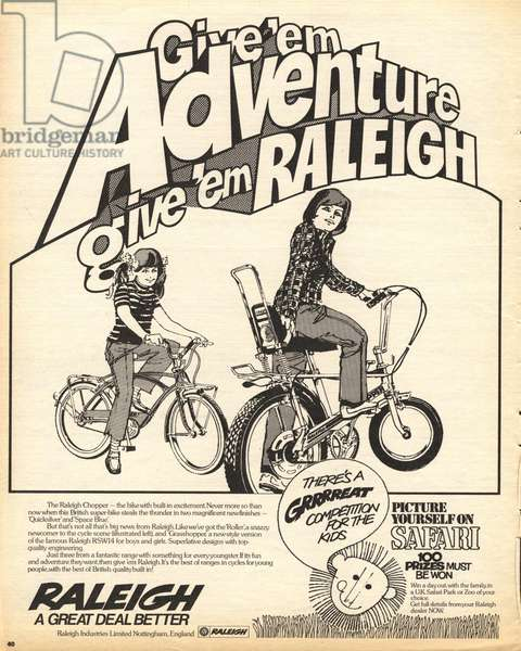 Raleigh Bicycles Chopper Magazine, advert, UK, 1970s