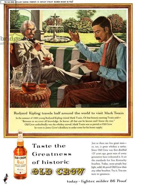 Old Crow Magazine, advert, USA, 1940s