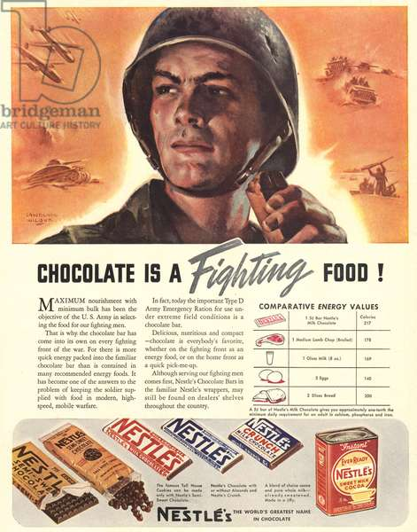 Nestle's Magazine, advert, USA, 1940s