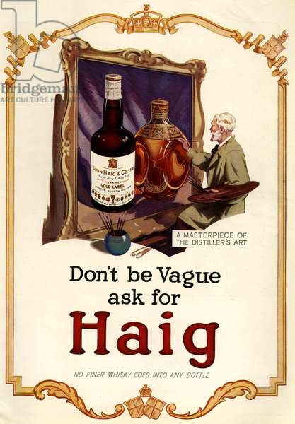 Haig Magazine Advert, UK, 1930s