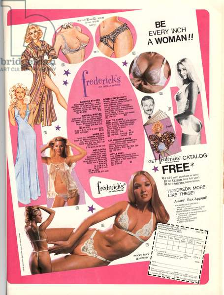 Frederick's of Hollywood Magazine, advert, USA, 1970s