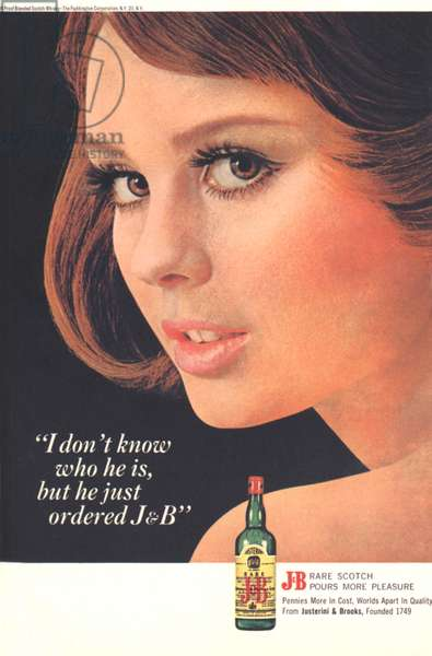 JandB, Justerini and Brooks Magazine, advert, USA, 1960s