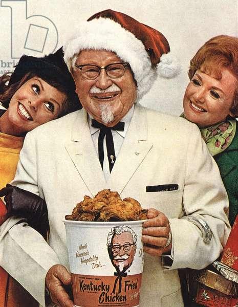 KFC Christmas Magazine, advert, USA, 1960s