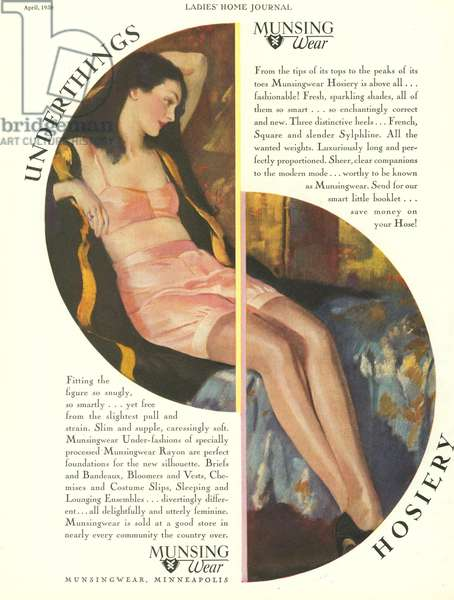 Munsingwear Magazine, advert, USA, 1930s