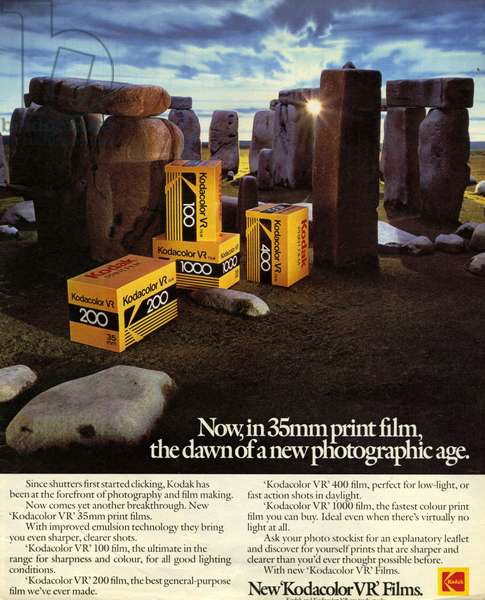 Kodak Magazine Advert, UK, 1980s