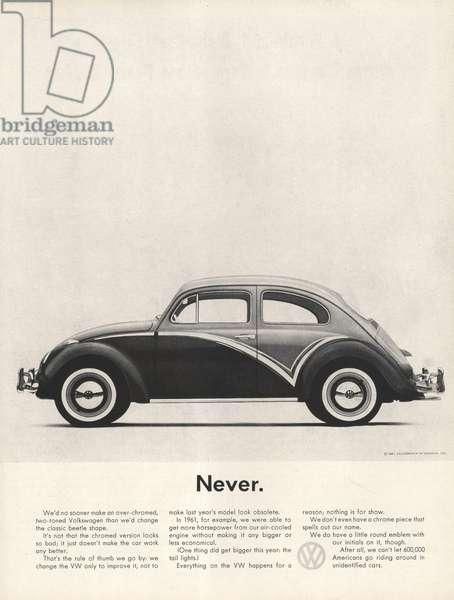Volkswagen Magazine, advert, USA, 1960s
