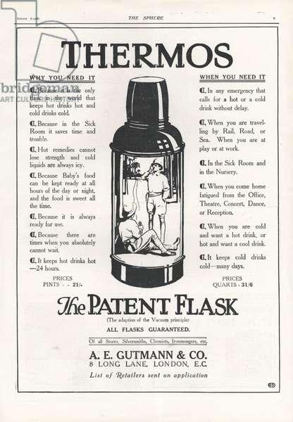Thermos Magazine, advert, UK, 1900s