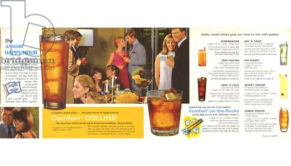 Southern Comfort Happy Hour Barguide Magazine, advert, USA, 1960s