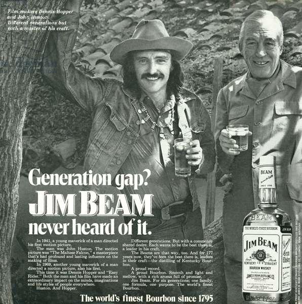 Jim Beam Magazine, advert, USA, 1970s