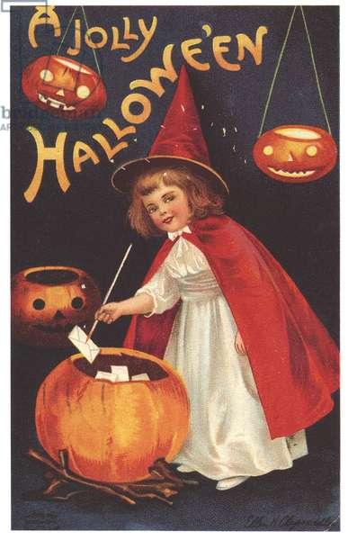 Halloween Greetings Card, USA, 1890s