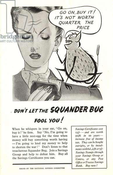 The Squander Bug Magazine, advert, UK, 1940s