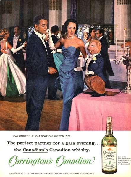 Carrington's Canadian Magazine, advert, USA, 1950s
