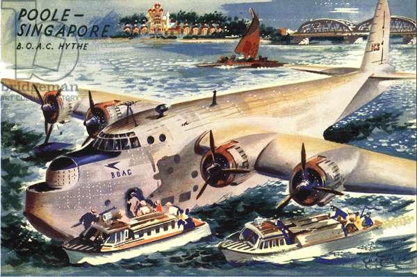 British Airways Magazine Plate, UK, 1950s