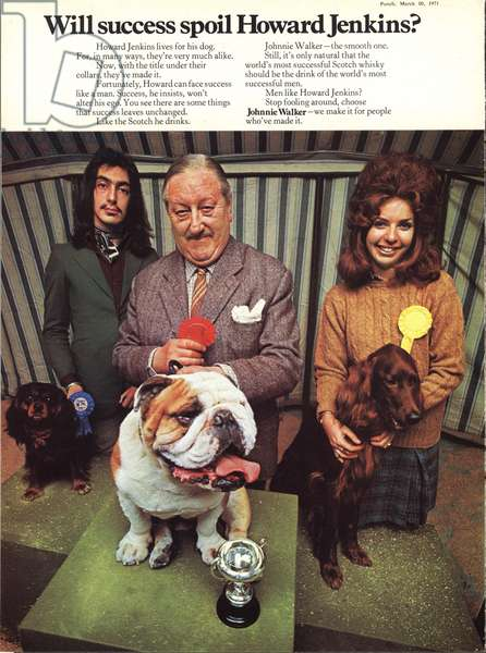 Johnie Walker Whisky Magazine, advert, UK, 1970s