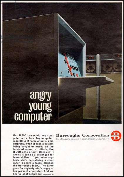 Burroughs Magazine Advert, USA, 1950s