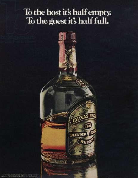 Chivas Regal Magazine, advert, USA, 1970s