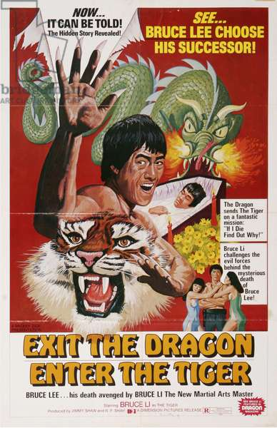 Exit The Dragon Enter The Tiger Film Poster, USA, 1970s