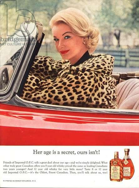 Schenley Magazine, advert, USA, 1960s