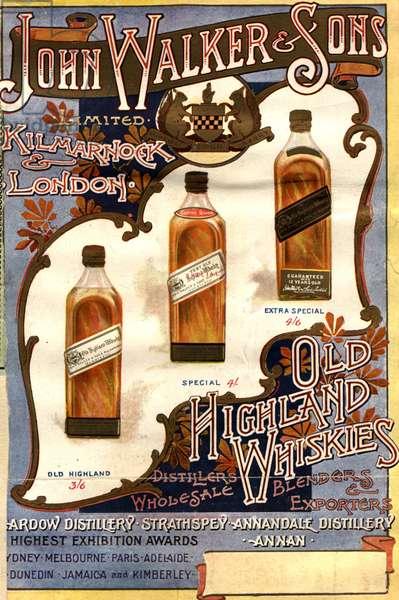 Johnnie Walker Magazine, advert, UK, 1890s
