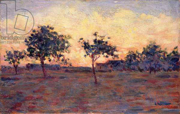 Sunset (Coucher de Soleil) 1881 (oil on panel)
