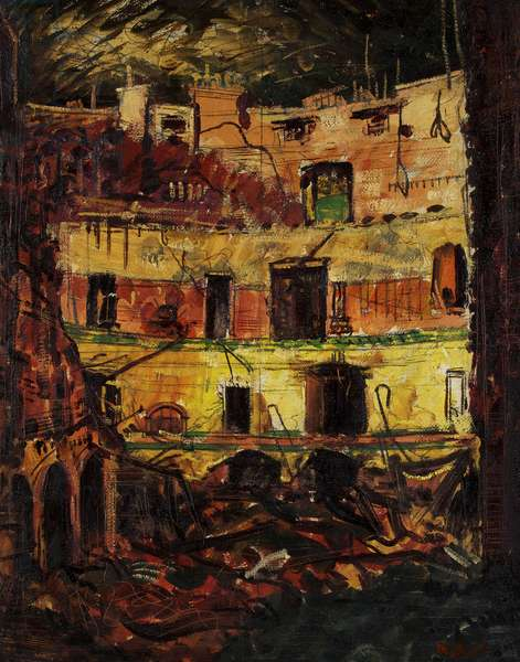 Prince's Theatre Bristol - after the Raid, c.1941 (oil on canvas)