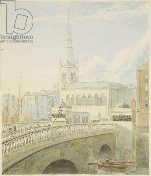 Bristol Bridge and St. Nicholas' Church, 1824