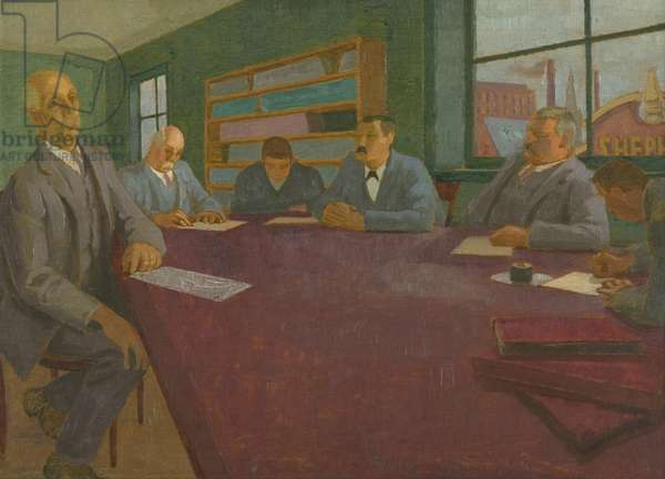 A Bristol Committee, 1921 (oil on panel, plywood)