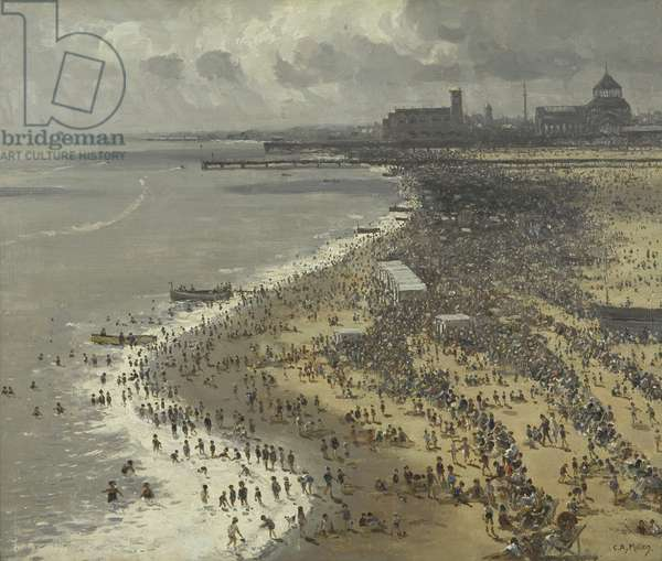 August Bank Holiday, Yarmouth, 1931 (oil on canvas)