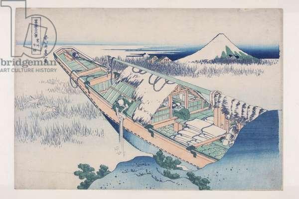 Ushibori in Hitachi Province (J?sh? Ushibori) (colour woodblock print)