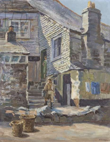 In Old St. Ives (oil on canvas)