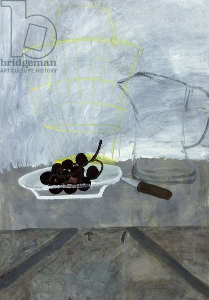 Grape, Ice Jug and Table, 1956 (oil on canvas)