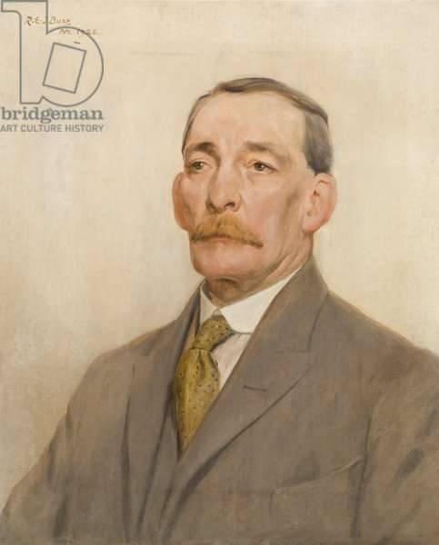 Portrait of Mr G. Coates, long-serving employee of the Wills company, 1928 (oil on canvas)