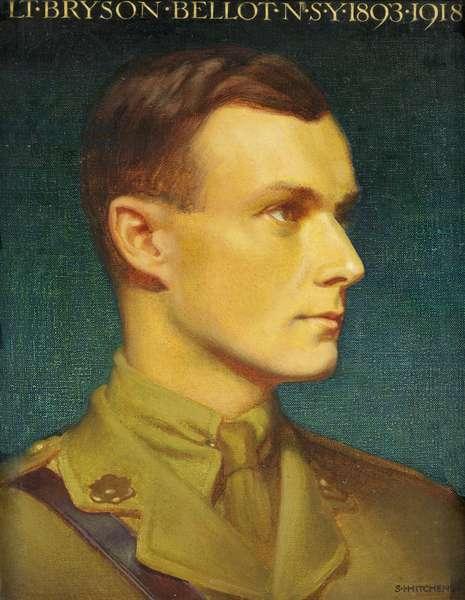 Portrait of Lt Bryson Bellot N.S.Y., c.1920 (oil on canvas)