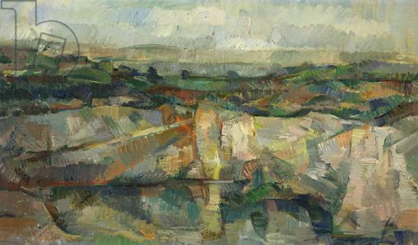 The Quarry, Cornwall, 1949 (oil on canvas)