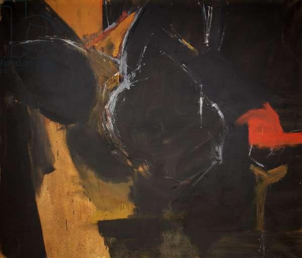 Black Painting 1961, 1961 (oil on canvas)
