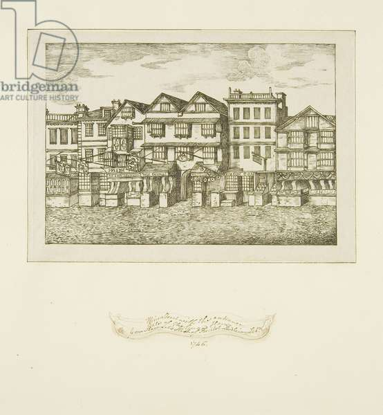 Wine Street with Entrance Gate at the Guard House Passage, c.1820 (ink on paper)