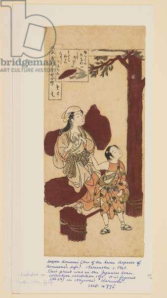Sotoba (colour woodblock print)