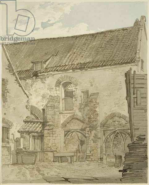 The Black, or Dominican, Friars, Merchant Street (pencil & w/c on paper)