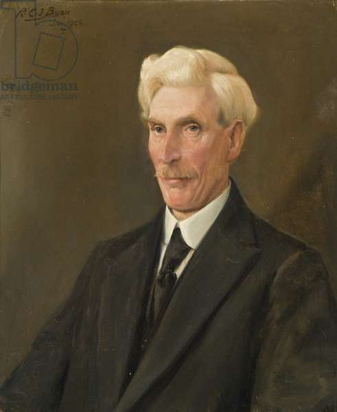 Portrait of Mr A.J. Mees, long-serving employee of the Wills company, 1928 (oil on canvas)