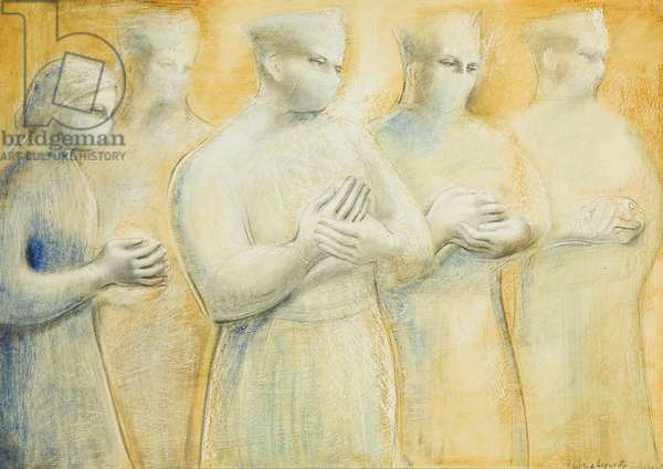 The Hands, 1948 (oil & pencil on panel)