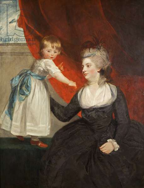 The Honourable Frances Courtenay, Lady Honywood and her Daughter, 1784 (oil on canvas)