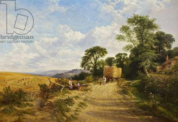 Landscape - Harvest Time, 1865 (oil on canvas)
