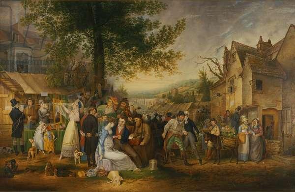 St. James's Fair, Bristol, 1824 (oil on canvas)