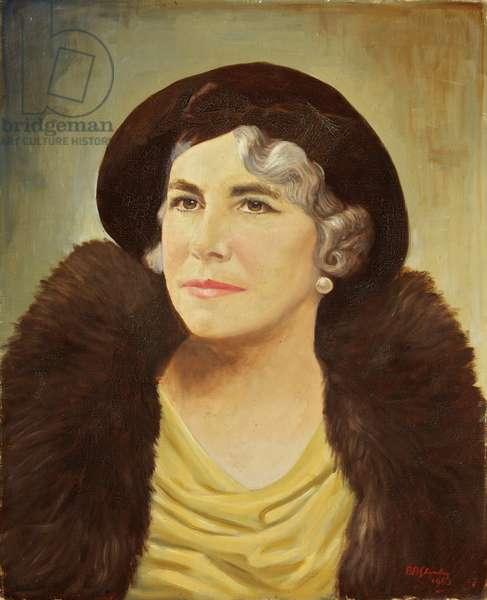 Portrait of Mrs Cole, 1963 (oil on canvas)