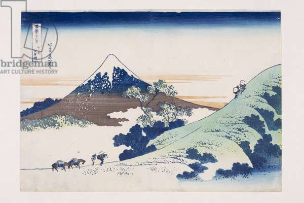 Inume Pass in Kai Province (Koshu Inume-toge) (colour woodblock print)
