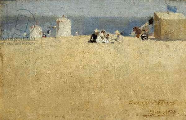 Beach Scene, St. Ives, 1886