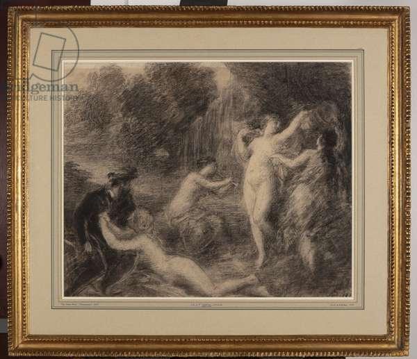 Tannhaüser au Venusberg (chalk on paper)