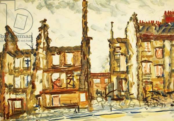 Park Street, Bristol, c.1941 (oil on paper)