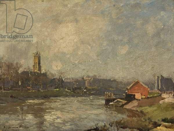The Avon at Bristol (oil on canvas)